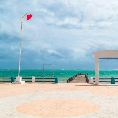 Beach in Puerto Morelos MExico